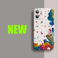 watercolor phone case for apple iphone 11 12 pro x xr 11 xs max 7 8 6 6s tpu full protection soft cover style iphone accessories