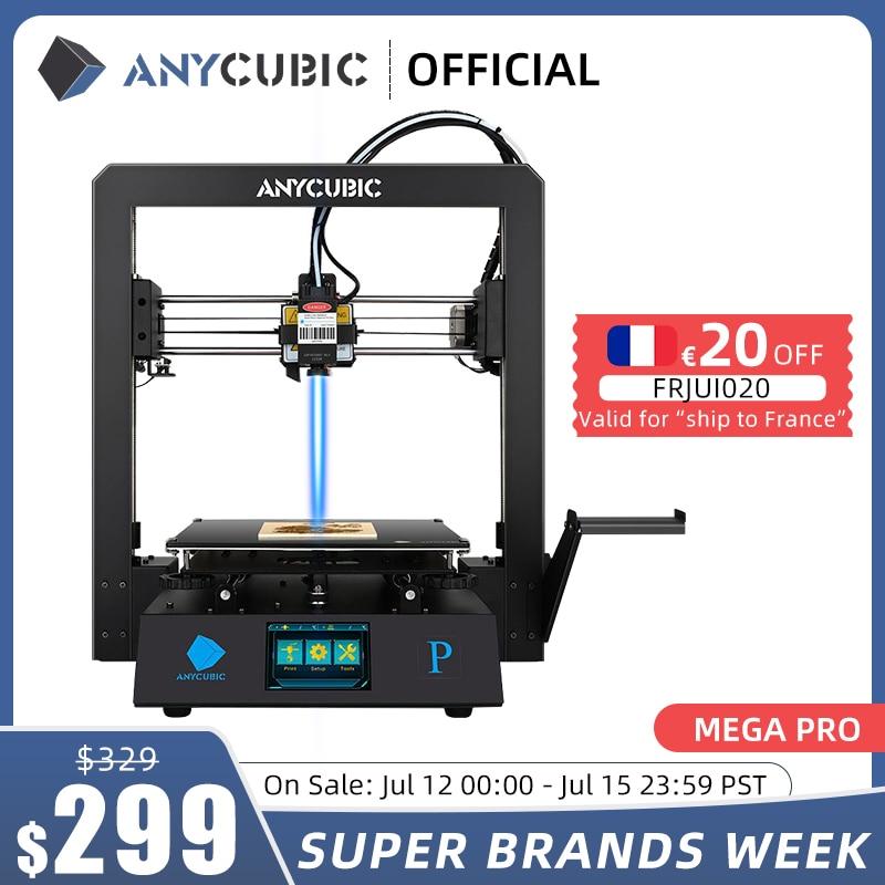 طابعة ANYCUBIC Mega Pro ثلاثية الأبعاد طباعة النقش بالليزر شاشة تعمل باللمس طباعة خيوط من البولي يوريثان طابعة ليزر ثلاثية الأبعاد