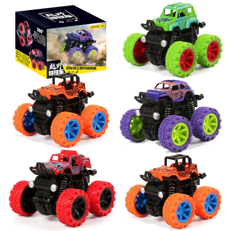 Off-road Vehicle Kids Toy Car Fun Double-Side Vehicle Inertia Safety Crashworthiness Fall Resistance Shatter-Proof Model Child