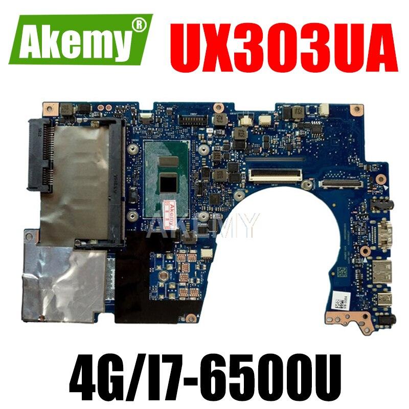 Akemy UX303UA 4G/I7-6500U 90NB08V0-R00020 اللوحة ل Asus UX303UA UX303U UX303UB U303U Laptop Mainboard 100% اختبار
