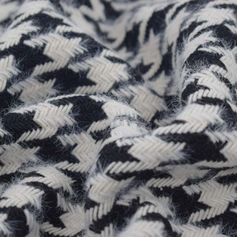 2019 invierno negro blanco plover tela de lana tweed para abrigo africano tissu telas por metro tissus tela tecido stoffen stof