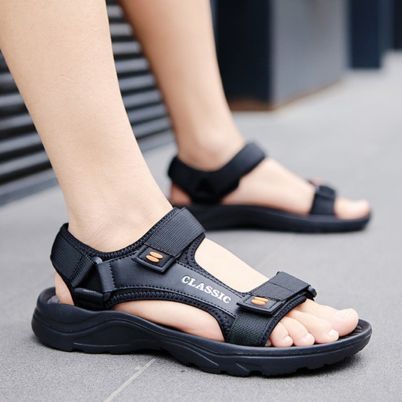 2021 New Summer Men Sandals Leisure Beach Holiday Sandals Man Shoes Outdoor Male Retro Comfortable C