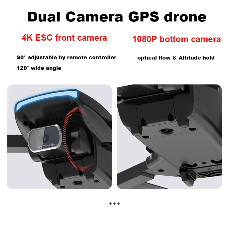 New SG108 5G GPS Drone with HD 4K Camera Foldable WiFi Dron Brushless FPV S3 Drone Rc Quadcopter 25mins Flight Time enlarge