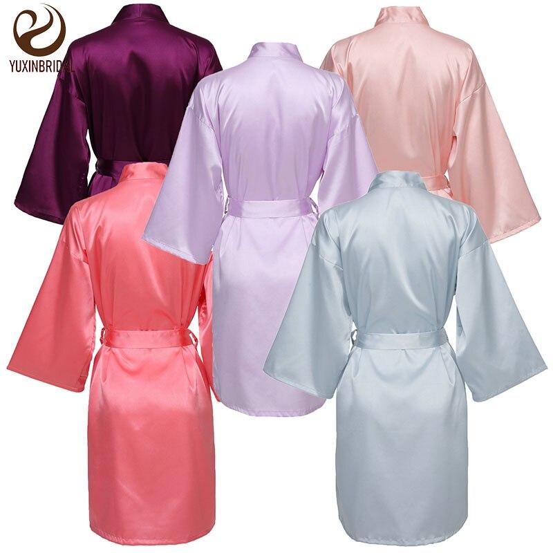 brand new silk satin women robe plain satin robes Gown Robes Satin Silk Bride Robe Wedding Robe Bride Bridesmaid Dressing Gown Bridesmaid Silk robe