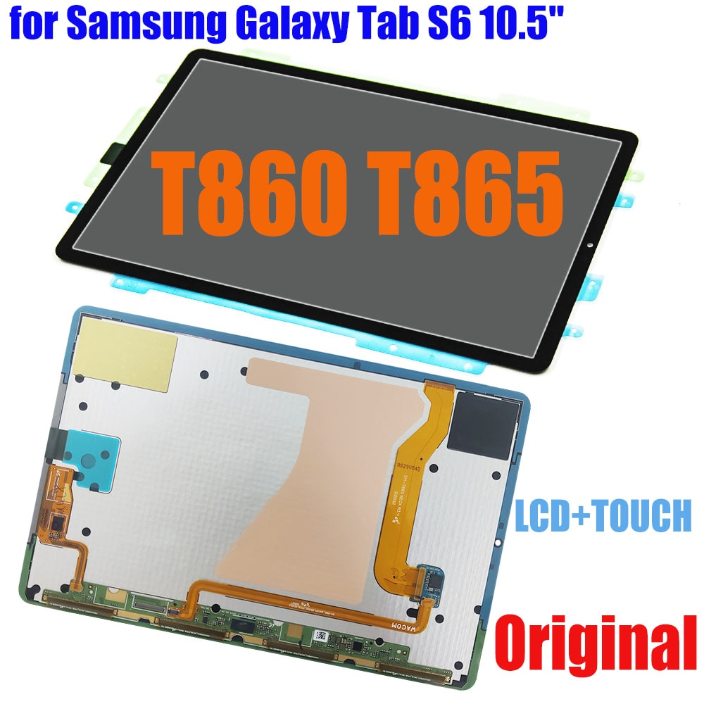 """100% Original LCD for Samsung Galaxy Tab S6 10.5"""" T860 T865 2019 LCD Display Touch Screen Assembly T865N T867 T866N LCD Replace"""