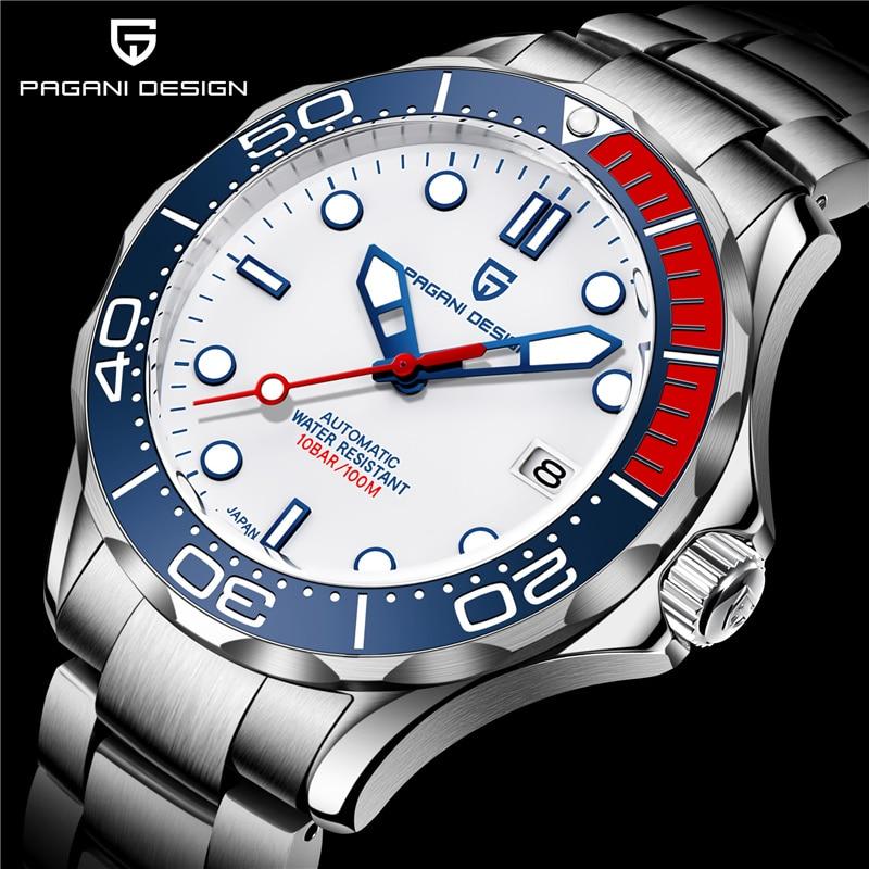 PAGANI DESIGN New Japan NH35 men automatic watches 007 Commander men sport wristwatch top luxury brand men mechanical watch 2020