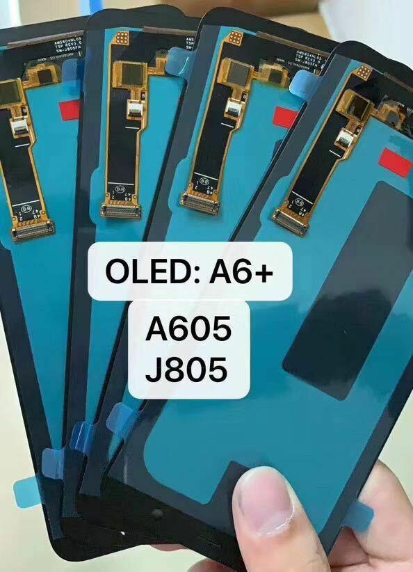 Para Samsung A6 + A605 SM-A605F A605FN A605GN reemplazo de pantalla LCD para Samsung J8 + J805 SM-J805F Módulo de pantalla lcd