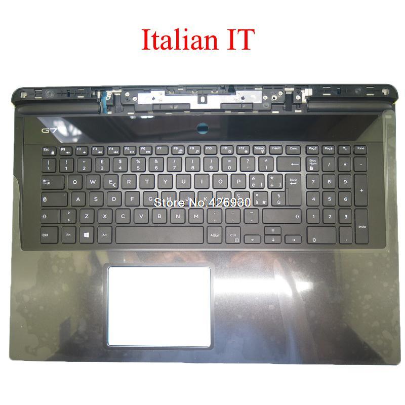 الإيطالية IT محمول Palmrest لديل G7 17 7790 06WFHN 6WFHN 07CM3Y 7CM3Y 00YW0N 0YW0N 0RWNNM RWNNM 07C0CD 7C0CD لوحة المفاتيح جديد