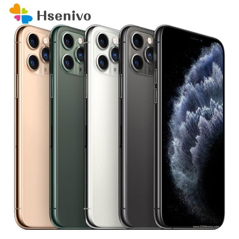IPhone 11 Pro, сотовый телефон Apple с функцией распознавания лица, 5,8 дюйма, ПЗУ 64 ГБ, A13, шестиядерный