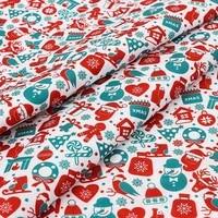 xugar christmas printed polyester cotton fabric for dress x mas cloth fabrics diy craft sewing needlework accessories 45145cm