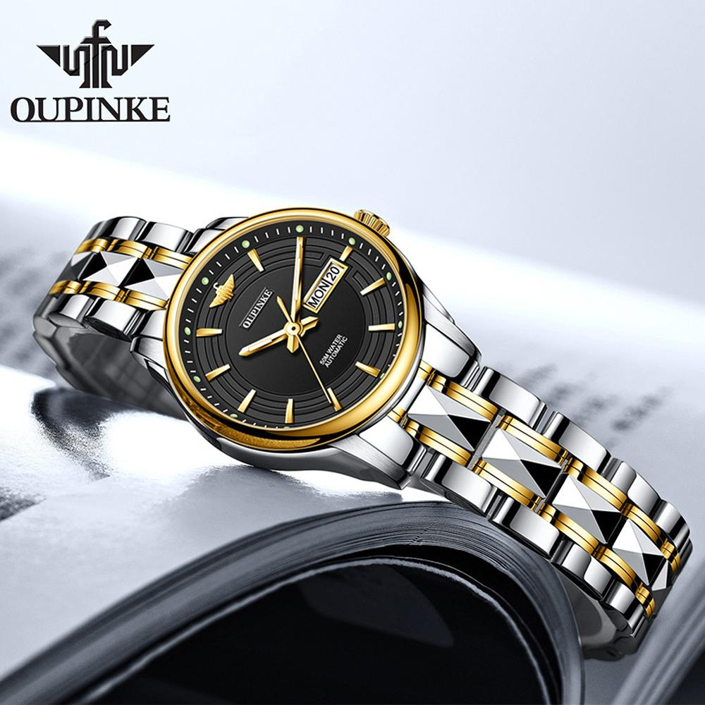 OUPINKE Top Luxury Brand Women Automatic Mechanical Watches Waterproof Stainless Steel Watchstrap Automatic Women Watch enlarge