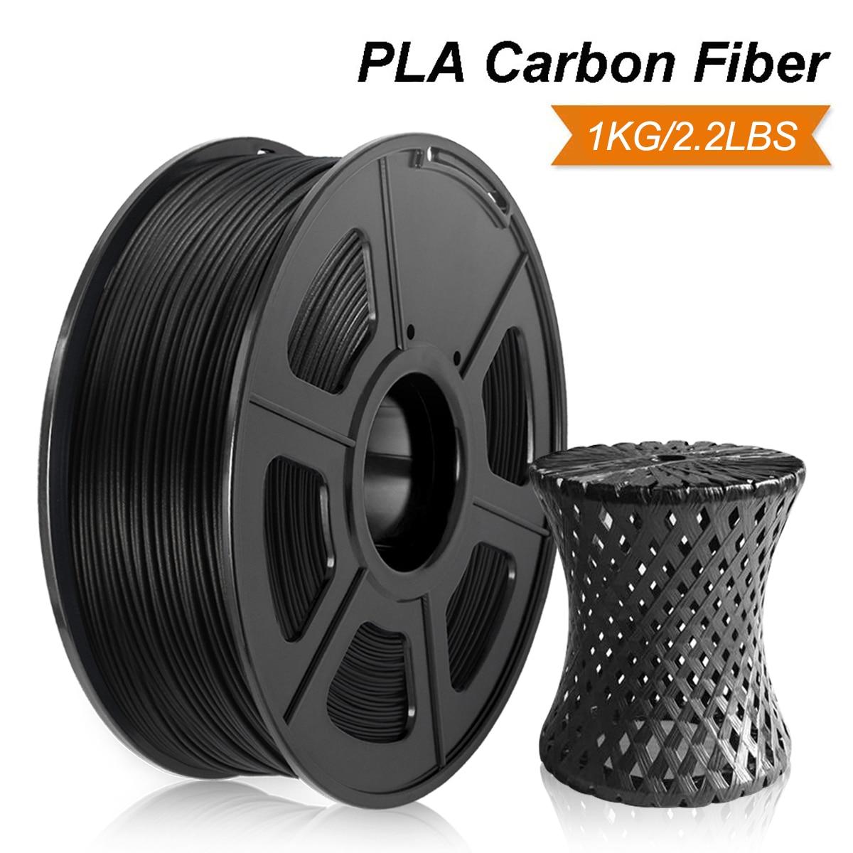 PLA Carbone NOIR 1kg PLA En Fiber De Carbone 3D Imprimante Filament 1.75mm (2.2lb) Tolérance +/-0.02mm Pour La Conception Des Enfants Peinture филамент