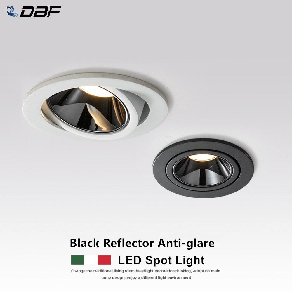 DBF-Foco empotrable con luz led para el techo, lámpara de potencia 7W...