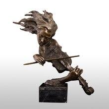 ATLIE Bronze die Violine Player Büste Skulptur Westlichen Weibliche Violinist Statue Figurine High-end Home Decor Zubehör