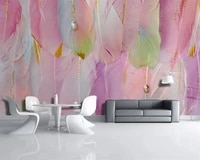 beibehang custom fashion nordic modern feather jewelry simple living room tv background papel de parede 3d wallpaper