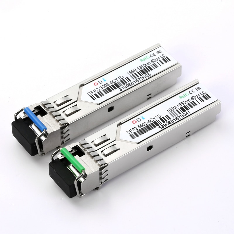 DFP1-3003-2IY11 155m LC sfp módulo transceptor de fibra única 40KM sfp módulo de fibra transceiver óptico