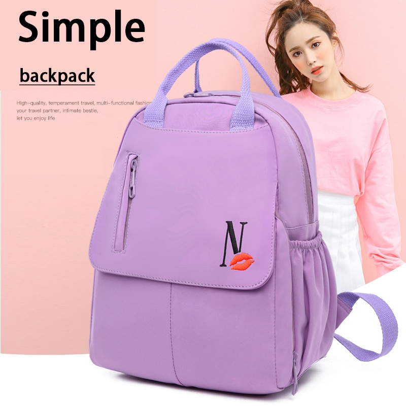 Casual Oxford Backpacks for Women Simple Style School Bagpack Lady Daily Travel Anti-Theft Backpack 2021 Large Capacity Rucksack