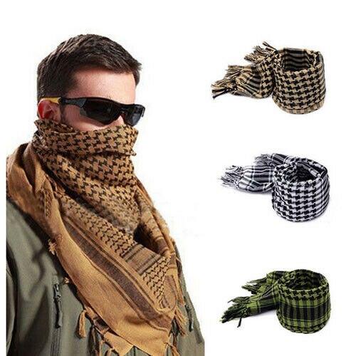 De moda ligero cuadros cuadrado chal para exteriores militar táctico árabe ejército Shemagh KeffIyeh Arafat bufanda Anti Baba