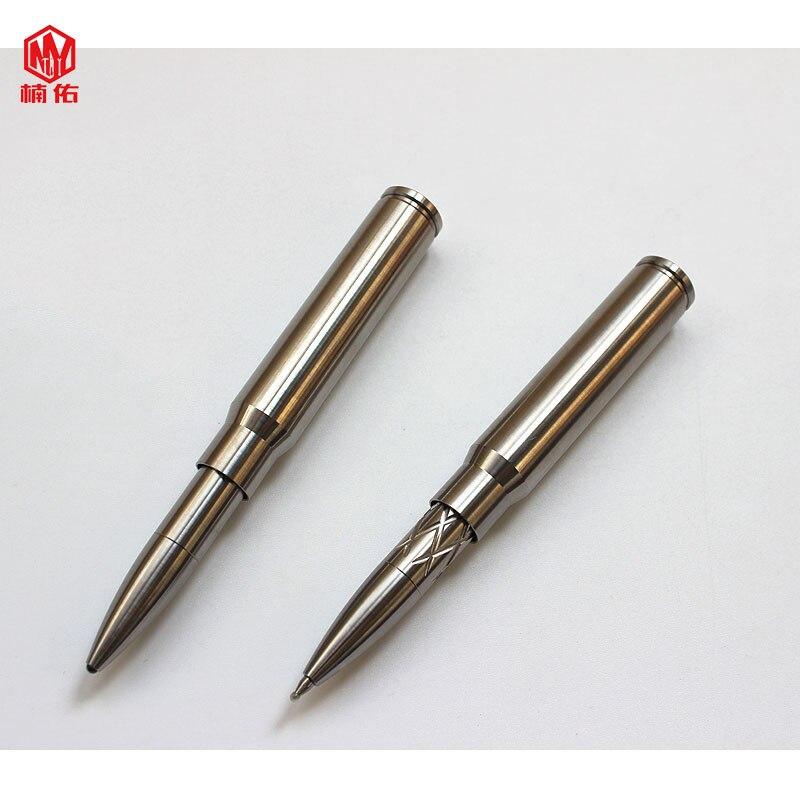 Herramienta de bolsillo de exterior EDC, bolígrafo en forma de bala de aleación de titanio CNC Seiko, bolígrafo táctico de defensa, lapicero de ataque, bolígrafo de firma