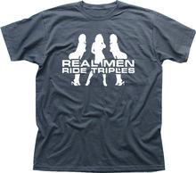Tripple motocicleta Biker velocidad Daytona divertido gris impreso camiseta 9851 Unisex camisetas