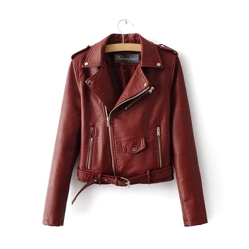 2019 new leather ladies short small coat pu jacket Korean version of motorcycle clothing spring womens leather jackets  coats enlarge