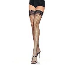 Calze a rete da donna Sexy in pizzo a rete trasparente da donna alta elasticità calze a rete morbide traspiranti da donna lunghe più grandi