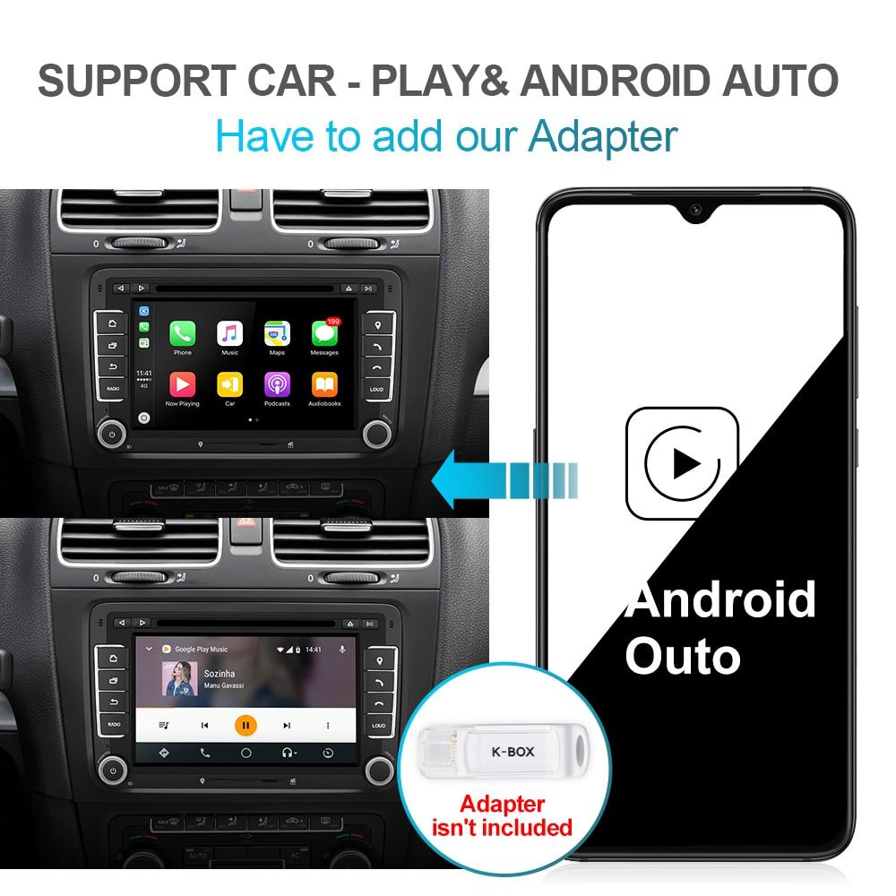 Isudar 2 Din Android 10 Radio For VW/Golf/Tiguan/Skoda/Fabia/Rapid/Seat/Leon Canbus Car Multimedia Player Automotivo GPS DVD DSP