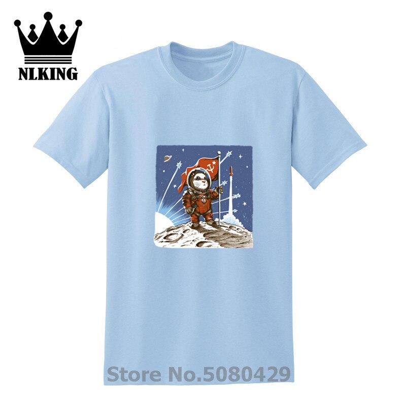 Camiseta del hámster del espacio soviética brave CCCP little cosmonaut cat Short de algodón Anime