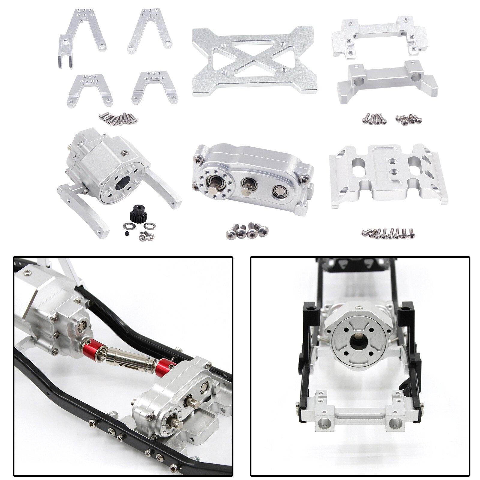 RC Spare Metal Prefixal /Transfer Case/Shock Mount for Axial SCX10 SCX10 II 90046 Car Trcuk Buggy DIY Parts