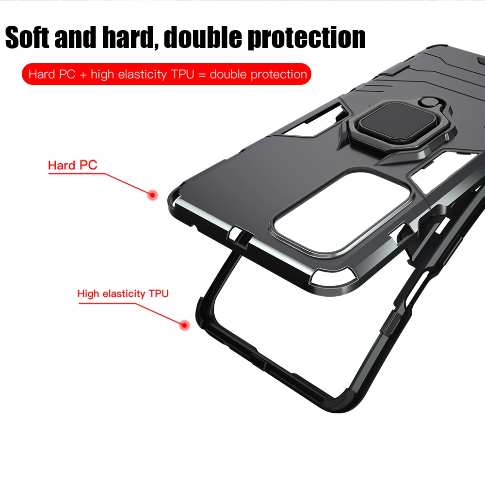 Shockproof Armor Case For Oneplus 9 9 Pro 8 Pro 8T 7T 7 Pro Ring Stand Silicone Phone Cover for Oneplus Nord N10 5G N100