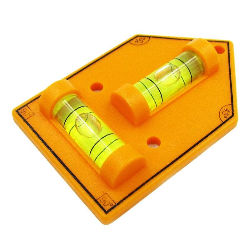 Hacury Triangular Mini spirit nivel de burbuja de plástico tipo T nivel de burbuja viales foto nivel y bastidor tamaño 72*46mm