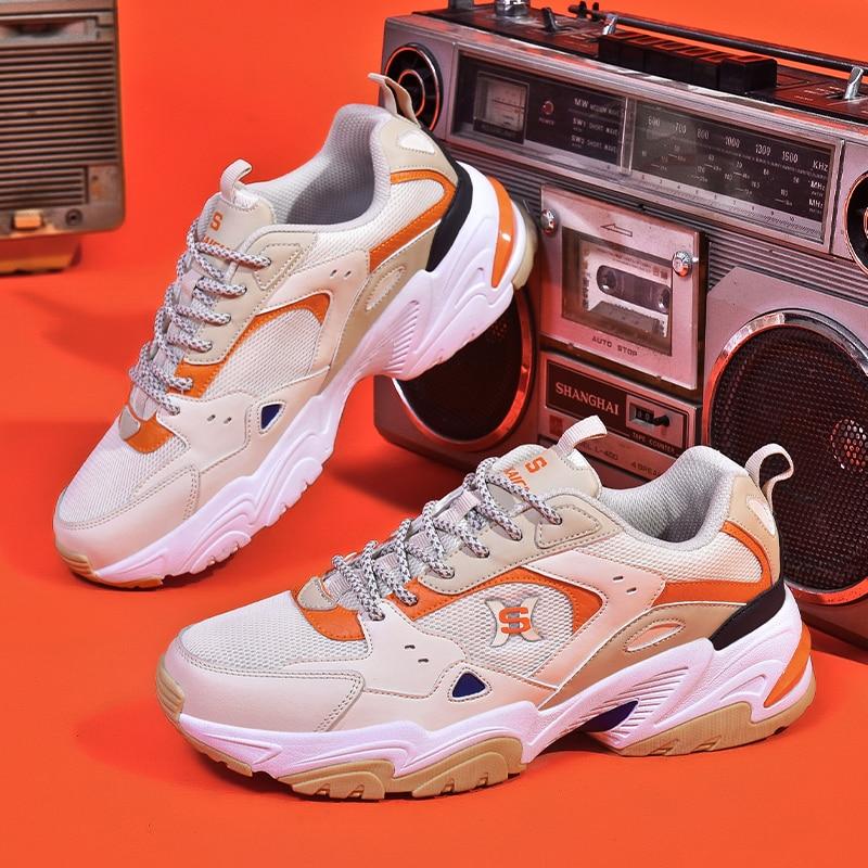 Мужские беговые кроссовки, мужская дешевая спортивная обувь большого размера для тренировок, Мужская дышащая сетчатая обувь для тенниса и ...