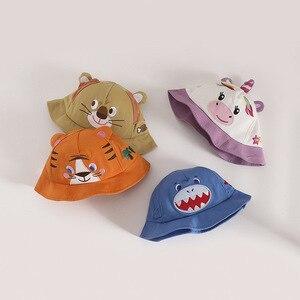Fashion Baby Summer Cap Boys Girls Bucket Hats Cute Cartoon Letter Sunhat Fisherman's Hat Beret Panama Casquette Enfant Animal