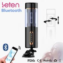 Vibrateur Bluetooth pour hommes Masturbation Rotation automatique télescopique Masturbation masculine tasse fellation orale succion réel jouet sexuel Vaginal