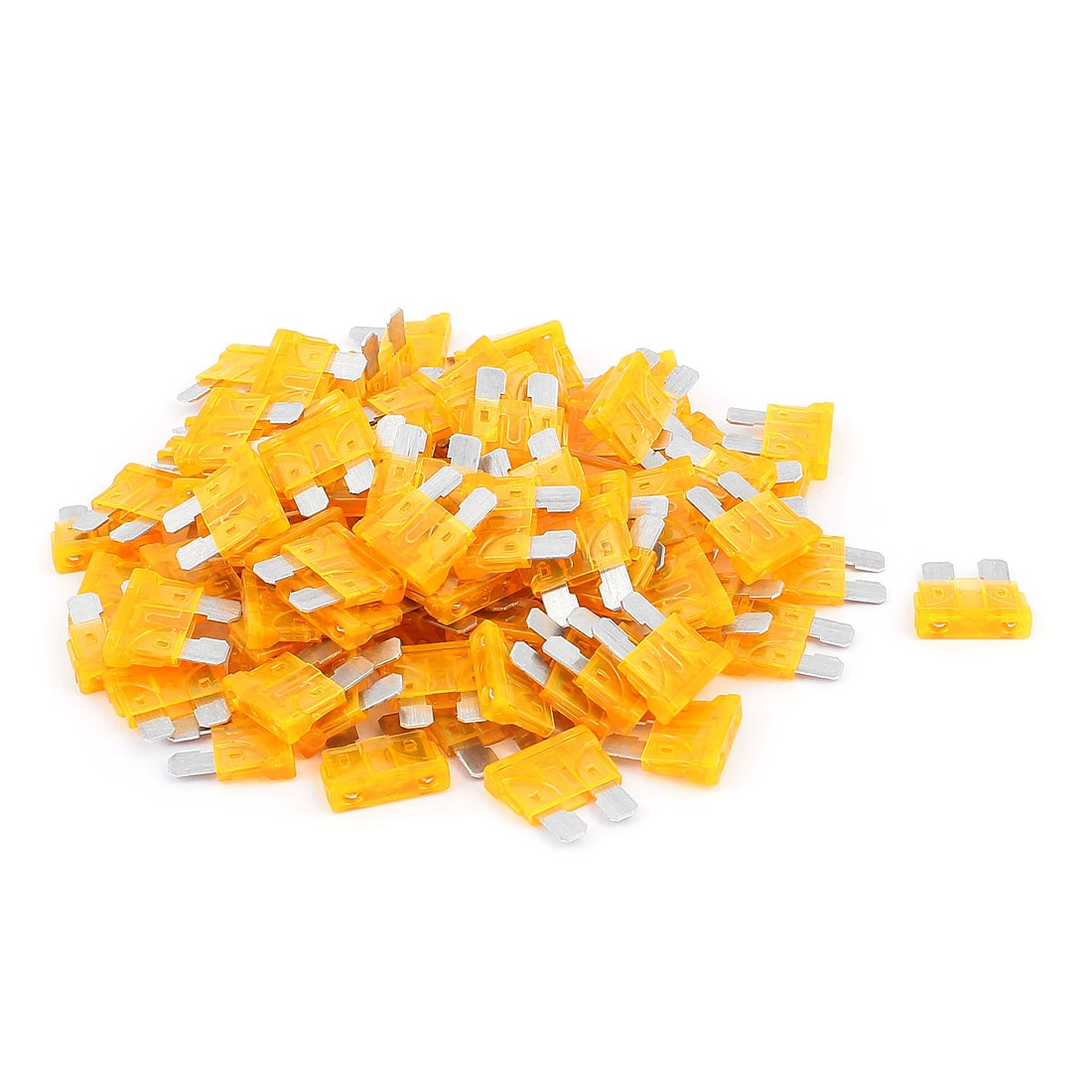 X Autohaux 100Pcs Mini Automotive Motorbike Car Truck Suv Boat Atc Blade Fuses 5A Orange