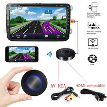 for Car Airplay Miracast Mirascreen Wifi Wireless Display Dongle AV RCA HDMI-compatible Streamer Mir