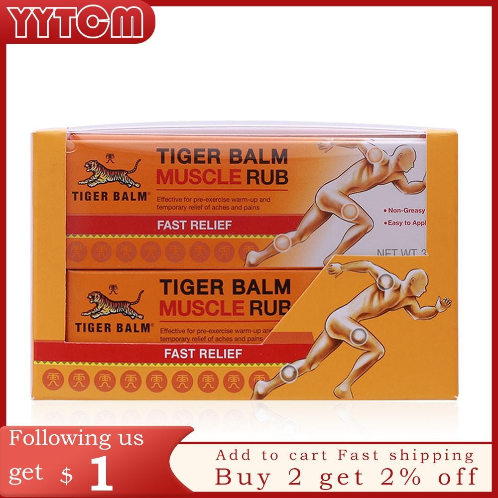 4pcs Tiger balm original red muscle rub relieve Sprain for shoulder relief joints pain massage ointment health care plaster