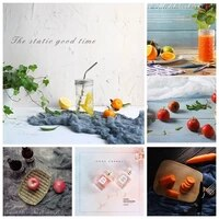 57x87cm photography background 2 sided cement texture wood grain marbling waterproof backdrop paper for fruit tableware shooting
