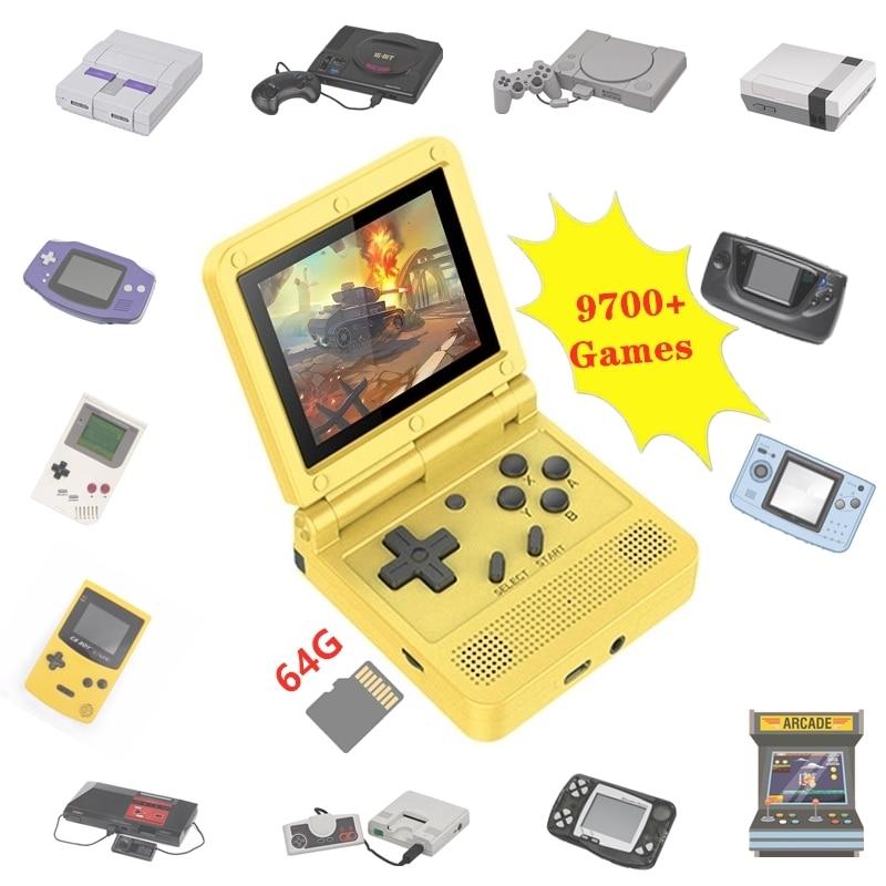 Консоль игровая портативная в ретро стиле, 64 ГБ, 9700 игр