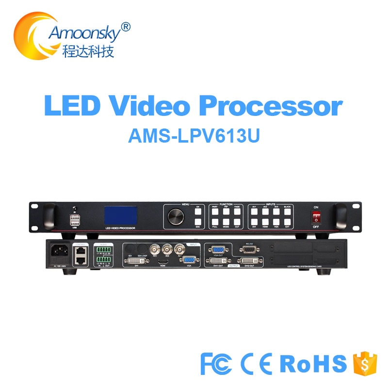 AMS-Lvp613 Series USB SDI WIFI LED Display Video Processor Support Novastar Msd300 Linsn Ts802d Colorlight Led Sending Card