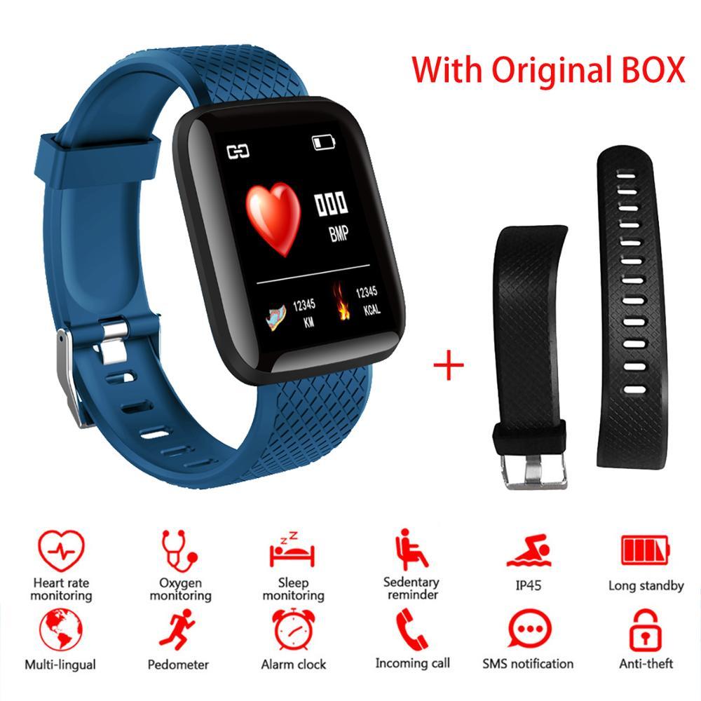 Nouveau D13 montre numérique intelligente pour hommes femmes enfants avec fréquence découte surveillance de la pression artérielle Bracelet de rappel de Message dappel Bluetooth