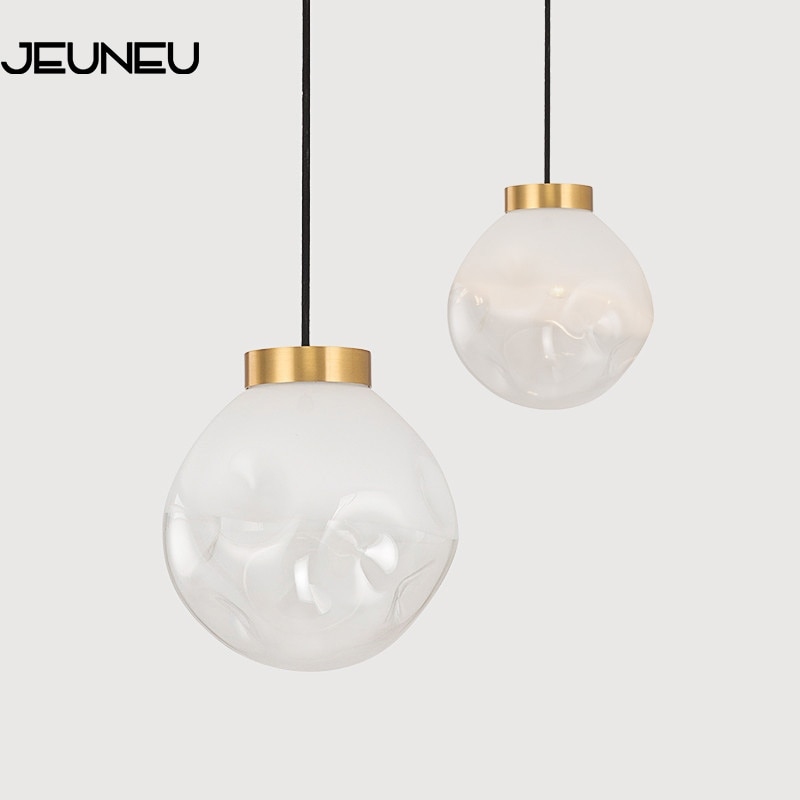 simplicidade nordic lampada pendurada moderna pingente de vidro bronze led e27 luzes