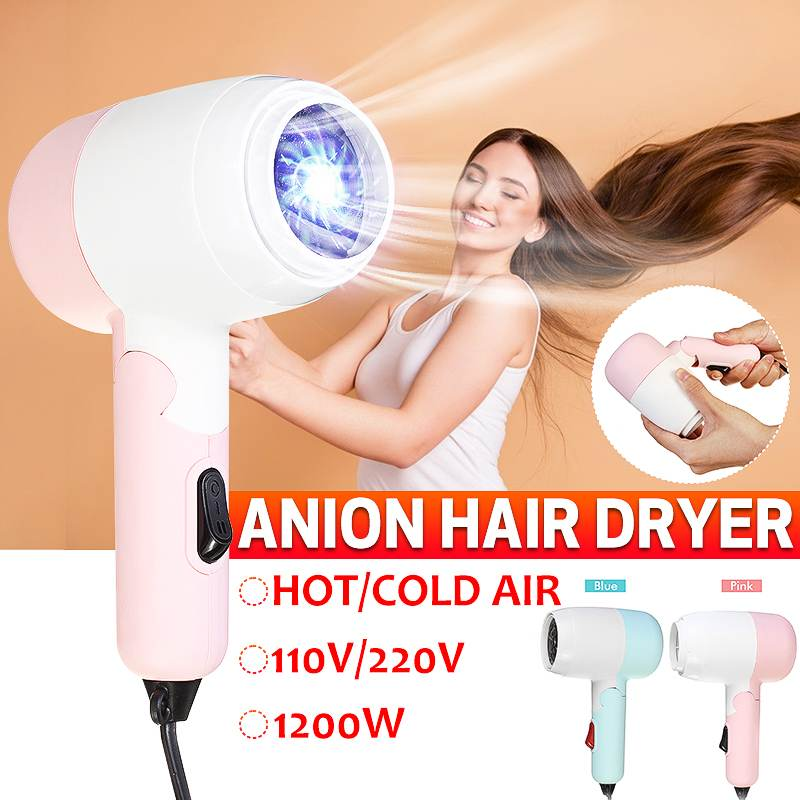 2 Speed Adjustment Portable Folding Hair Dryer Strong Power Barber Salon Styling Tools Hot/Cold Air Blow Dryer 110V/220V