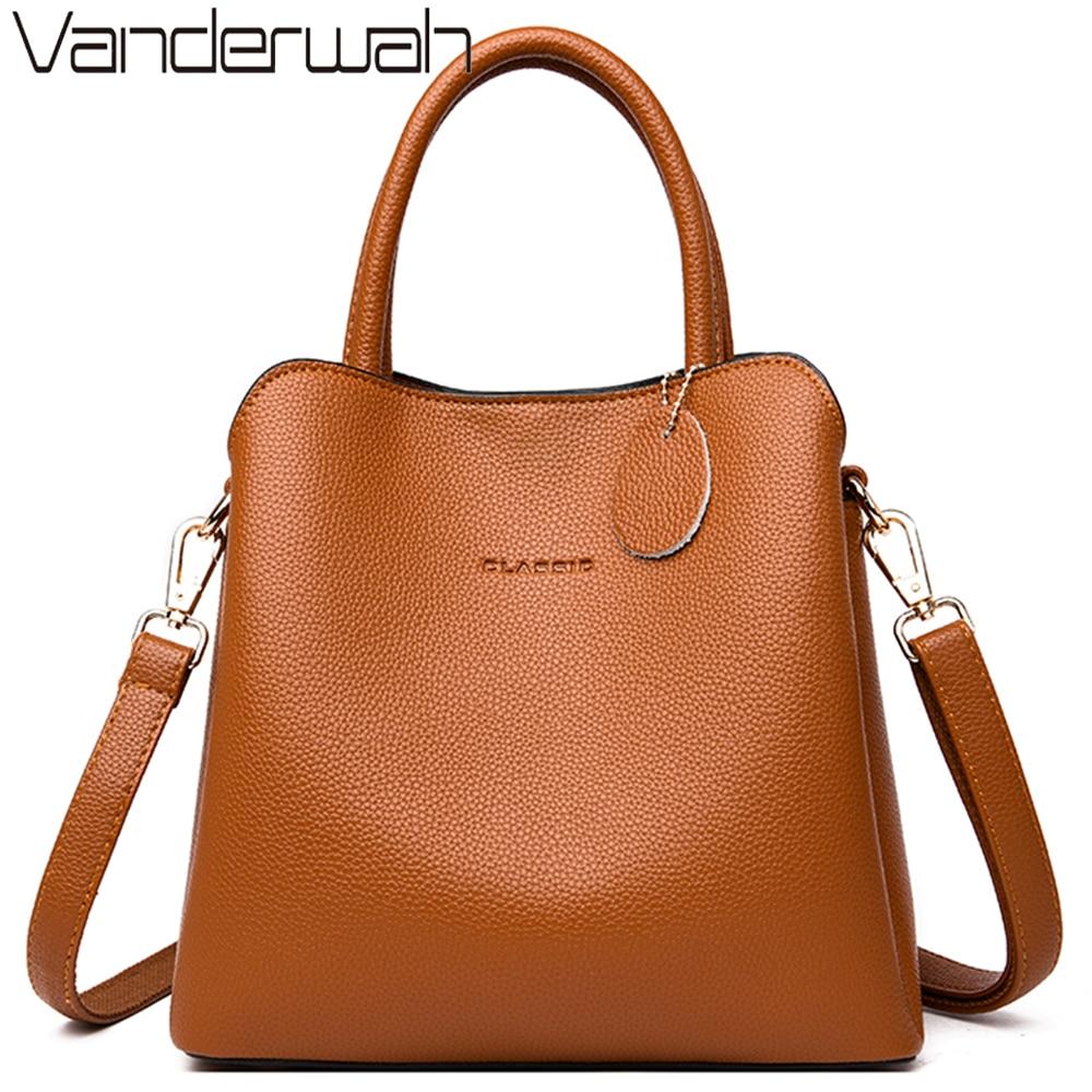 جديد 3 الرئيسية جيب جلدية فاخرة حقائب النساء حقائب مصمم الإناث Croosbody أكياس للنساء صغيرة عارضة حمل حقيبة Sac