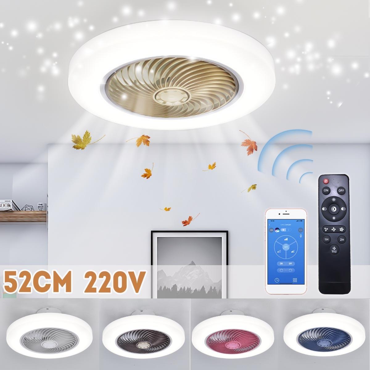 52 سنتيمتر مروحة سقف الذكية مع أضواء قابل للتعديل سرعة التحكم عن بعد التهوية مصباح LED ضوء السقف لغرفة النوم غرفة المعيشة