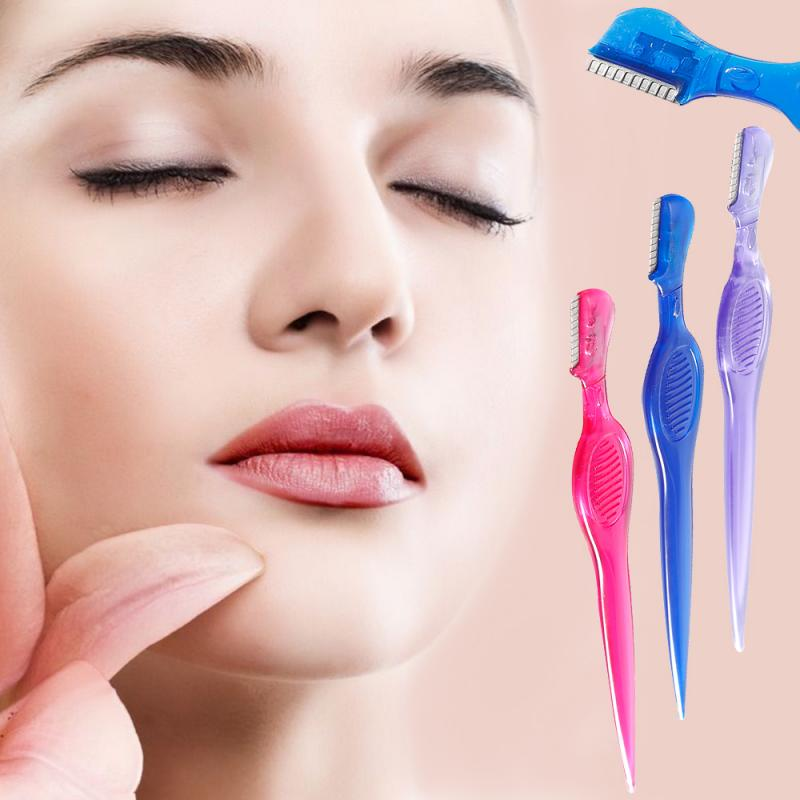 1pc Eyebrow Razor Trimmer Painless Face Hair Removal Safety Shaper Shaver Eye Brow Razor Trimmer Sha