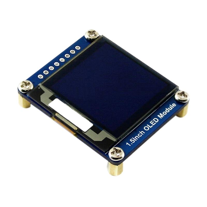 Waveshare 1.5Inch OLED Display Module 128X128 16-Bit Grey Level SPI/I2C Interface SPI/I2C Interface for Raspberry PI