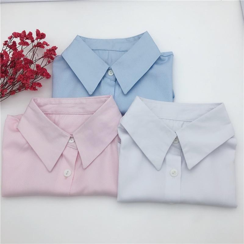 Однотонная рубашка со съемным дизайном для женской рубашки с ложным воротником, Женская полурубашка, свитер, официальное платье, галстуки