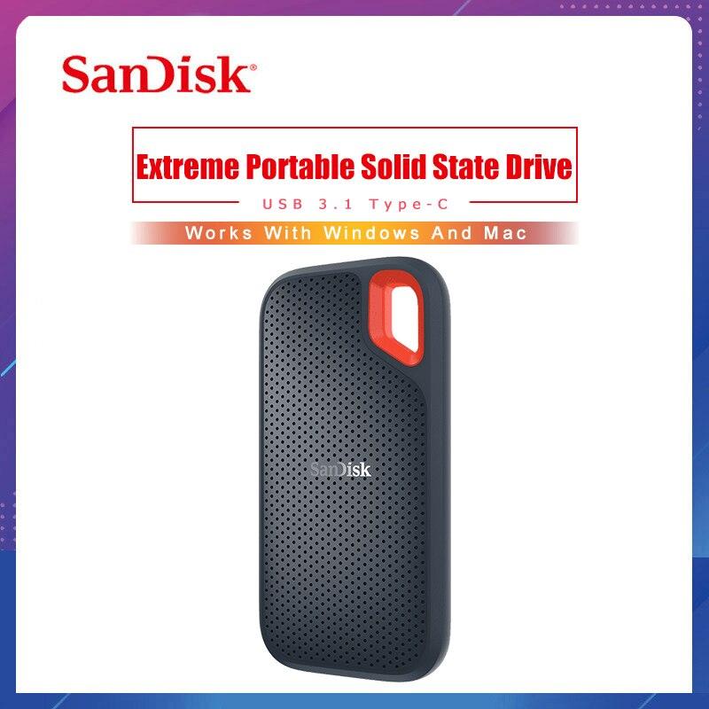سانديسك-محرك أقراص صلبة خارجي SSD محمول ، 1 تيرا بايت بايت ، 500 جيجابايت ، 550 م ، USB 3.1 ، HD ، 250 جيجابايت ، لأجهزة الكمبيوتر المحمولة