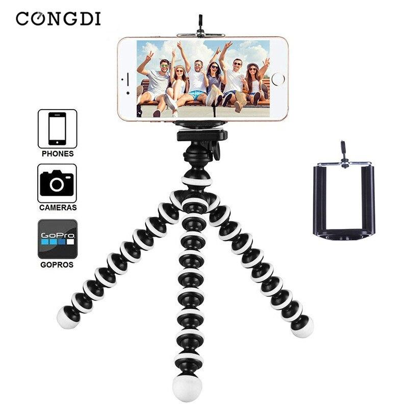 Mini trípode Octopus para teléfono móvil, trípode para teléfono móvil, soporte Universal para Smartphone, cámara deportiva con Clip